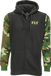 Fly Racing Camo Zip Up Hoodie Black