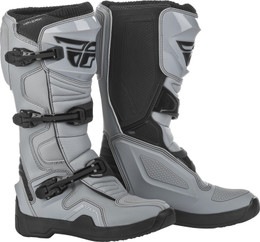 Fly Racing Maverik Boots Grey Black