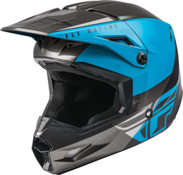 Fly Racing Youth Kinetic Straight Edge Helmet Blue Grey Black