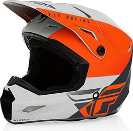 Fly Racing Kinetic Straight Edge Helmet Matte Orange Grey