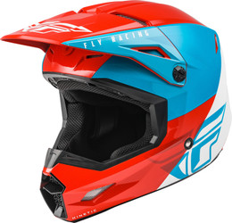 Fly Racing Youth Kinetic Straight Edge Helmet Red White Blue