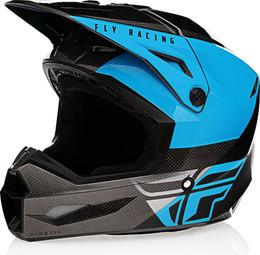 Fly Racing Kinetic Straight Edge Helmet Blue Grey Black