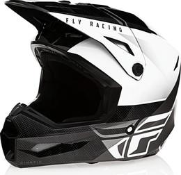 Fly Racing Kinetic Straight Edge Helmet Black White