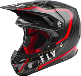 Fly Racing Formula Carbon Axon Helmet Black Red Khaki