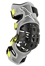 Alpinestars Bionic 7 Knee Set Silver Yellow Armor