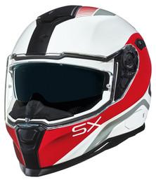 NEXX SX100 Popup White Red Helmet