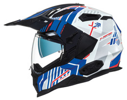 NEXX XWED 2 Wild Country White Blue Helmet