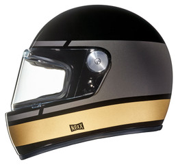 NEXX XG100R Record Black Gold Helmet