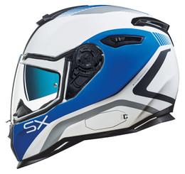 NEXX SX100 Popup White Blue Helmet