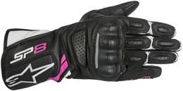 Alpinestars Stella Womens SP-8 V2 Black White Fuchsia Gloves