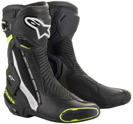 Alpinestars SMX Plus V2 Black White Yellow Boots