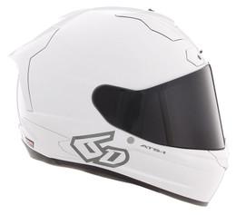 6D ATS-1R Solid Gloss White Helmet