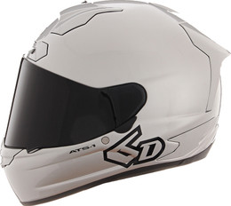 6D ATS-1R Solid Gloss Silver Helmet