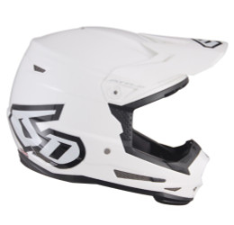 6D ATR-2Y Solid Gloss White Helmet Youth