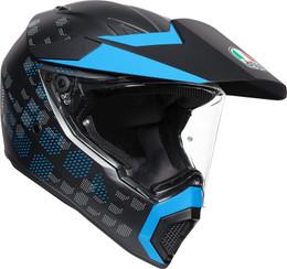 AGV AX9 Matte Black Cyan Helmet