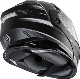 Gmax MD-01S Modular W Elec Shield Descendant Matte Blk White Helmet
