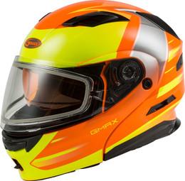Gmax MD-01S Modular Snow Helmet Descendant Neon Org Hi-Vis