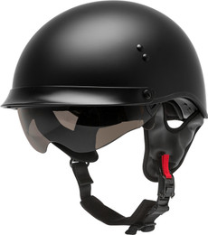 Gmax HH-65 Half Helmet Full Dressed Matte Black