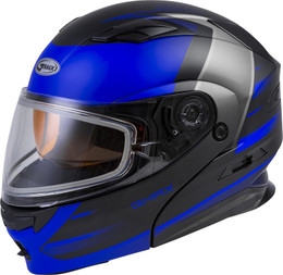 Gmax MD-01S Modular Snow Helmet Descendant Matte Black Blue