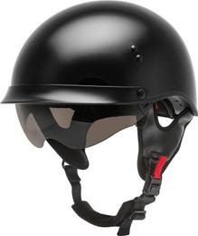 Gmax HH-65 Half Helmet Full Dressed Black