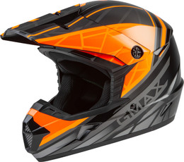 Gmax MX-46 OFF-Road Mega Helmet Black Orange Silver