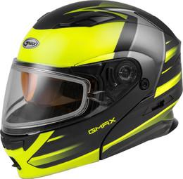 Gmax MD-01S Modular Snow Helmet Descendant Matte Blk Hi-Vis