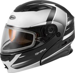 Gmax MD-01S Modular Snow Helmet Descendant Matte Blk White