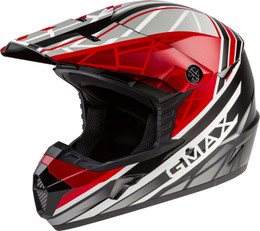 Gmax MX-46 OFF-Road Mega Helmet Black Red White