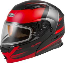 Gmax MD-01S Modular Snow Helmet Descendant Matte Black Red