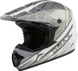 Gmax MX-46 OFF-Road Mega Helmet Matte White Silver