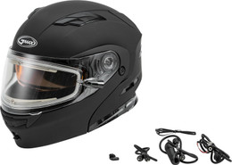 Gmax MD-01S Modular Snow Helmet W Electric Shield Matte Blk