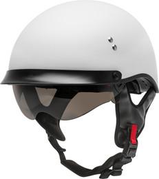 Gmax HH-65 Half Helmet Full Dressed Matte White