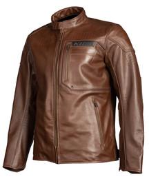 Klim Sixxer Leather Jacket Sienna Brown