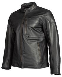 Klim Sixxer Leather Jacket Gunmetal Black