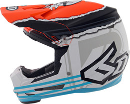6D ATR-2Y Danger Boy Orange Blue Helmet