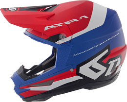 6D ATR-1 Pace Red White Blue Helmet