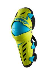 Leatt Dual Axis Lime Blue Knee & Shin Guard Armor