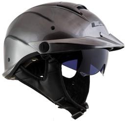 LS2 Rebellion Solid Gloss Brushed Alloy Helmet