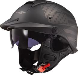LS2 Rebellion 1812 Matte Black Helmet