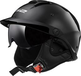 LS2 Rebellion Solid Gloss Black Helmet