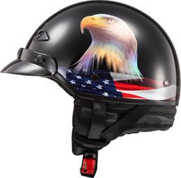 LS2 Bagger Murica Gloss Black Helmet