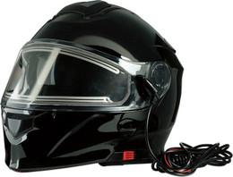 Z1R Solaris Modular Black Electric Shield Snow Helmet