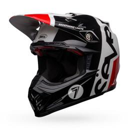 Bell Moto-9 Flex Seven Galaxy Gloss Black White Red Helmet