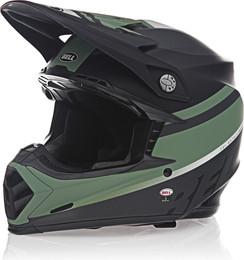 Bell Moto-9 MIPS Prophecy Matte Black Dark Green Helmet