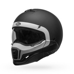Bell Broozer Cranium Matte Black White Helmet