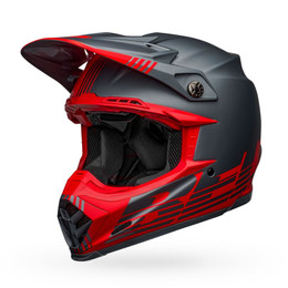 Bell Moto-9 Flex Louver Matte Gray Red Helmet