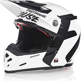 Bell Moto-9 Flex Fasthouse Newhall Gloss White Black Helmet