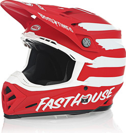 Bell Moto-9 MIPS Fasthouse Signia Matte Red White Helmet