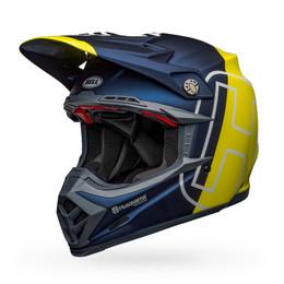 Bell Moto-9 Flex Husqvarna Gotland Matte Gloss Blue Hi-Viz Helmet