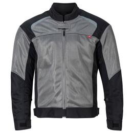 NORU Kuki Grey Black Mesh Jacket